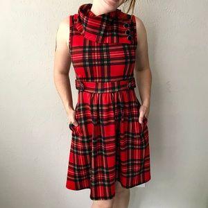 Red Tartan ModCloth Dress